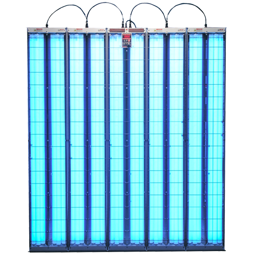 Solarc E-Series expandable 5 panel booth with 10 lamps