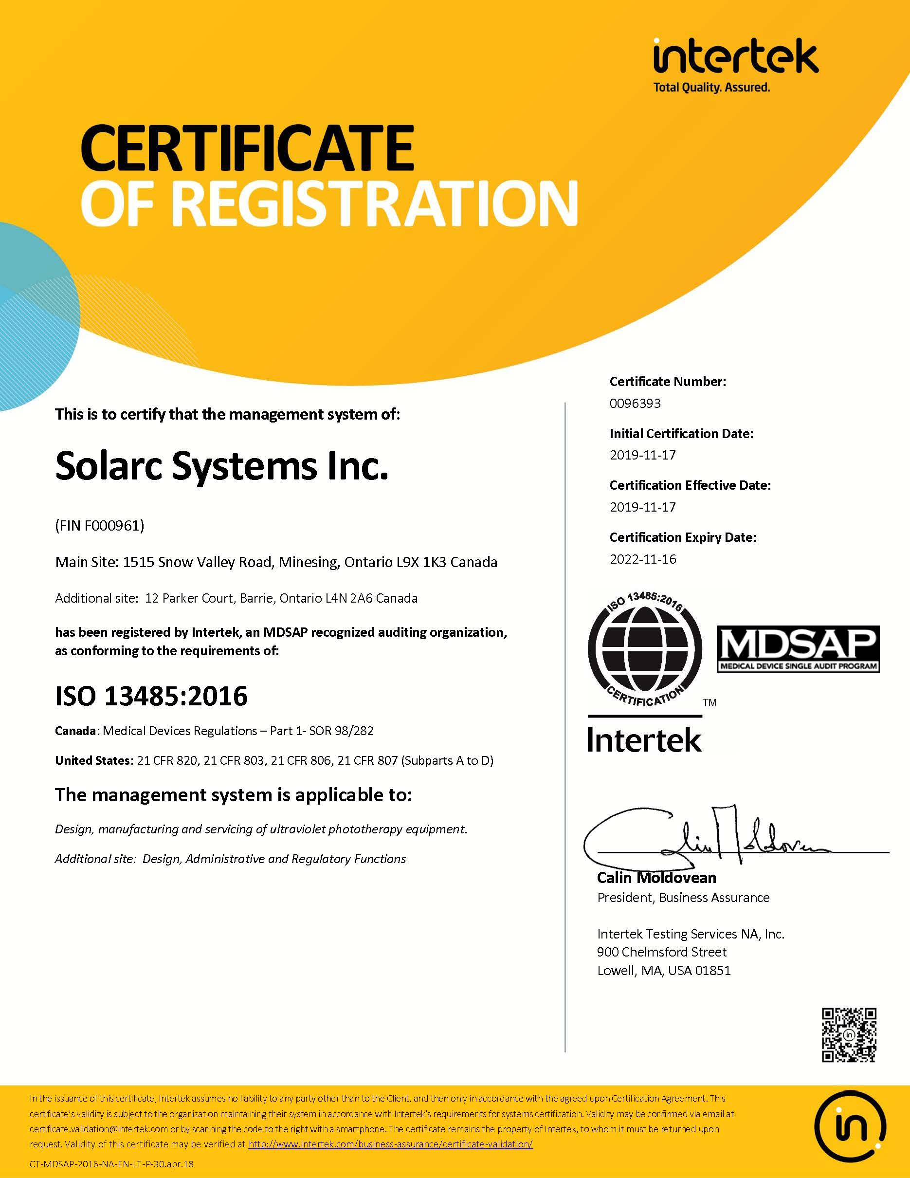 ISO Certificate 2019 ISO Quality Systems