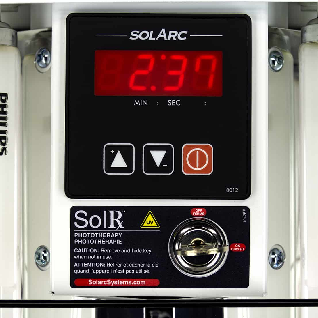 Artisan Timer and Switchlock Close-Up in SolRx E-Series