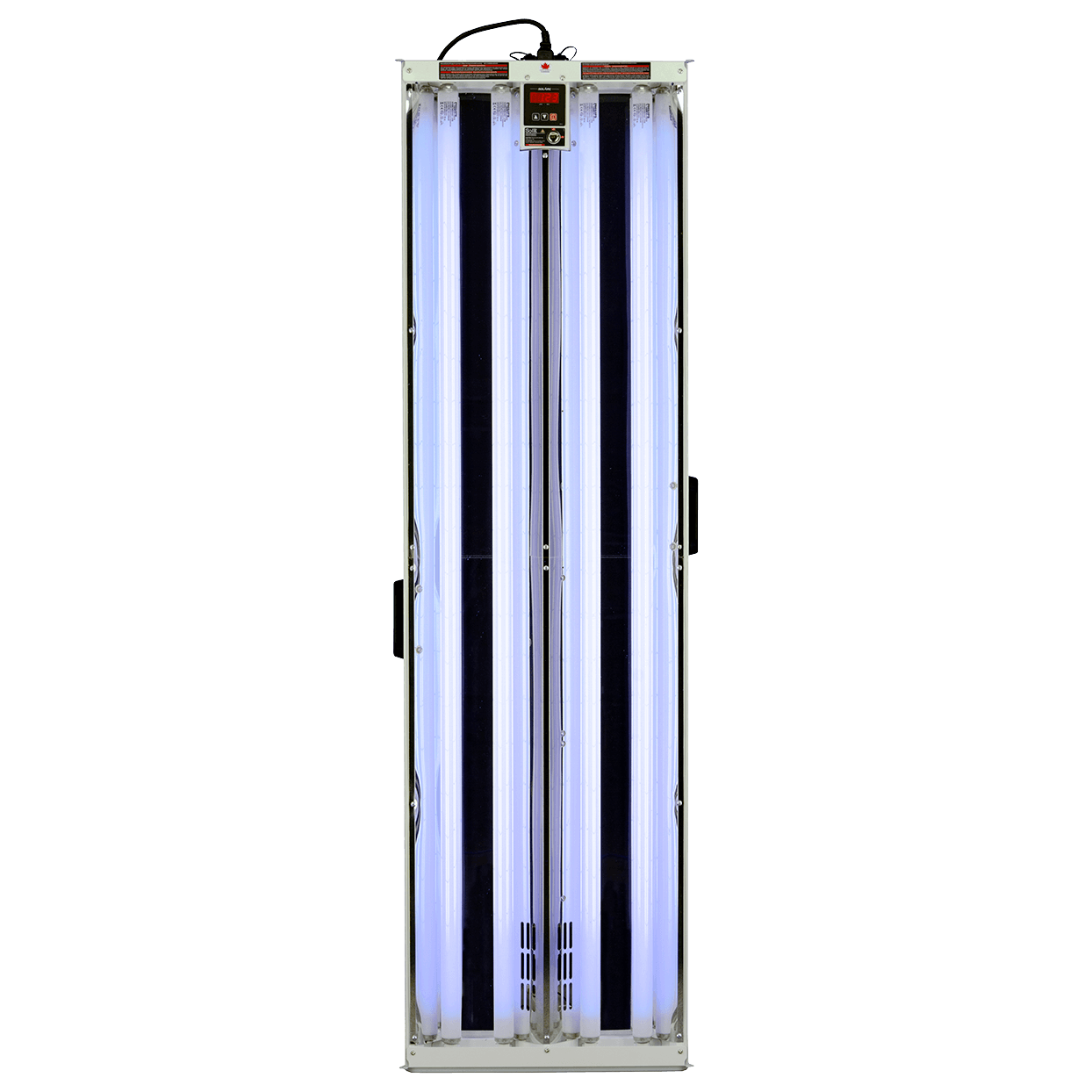 full product view of a SolRx E740 Master device with Clear Acrylic Window (CAW), home UVB-Narrowband Phototherapy