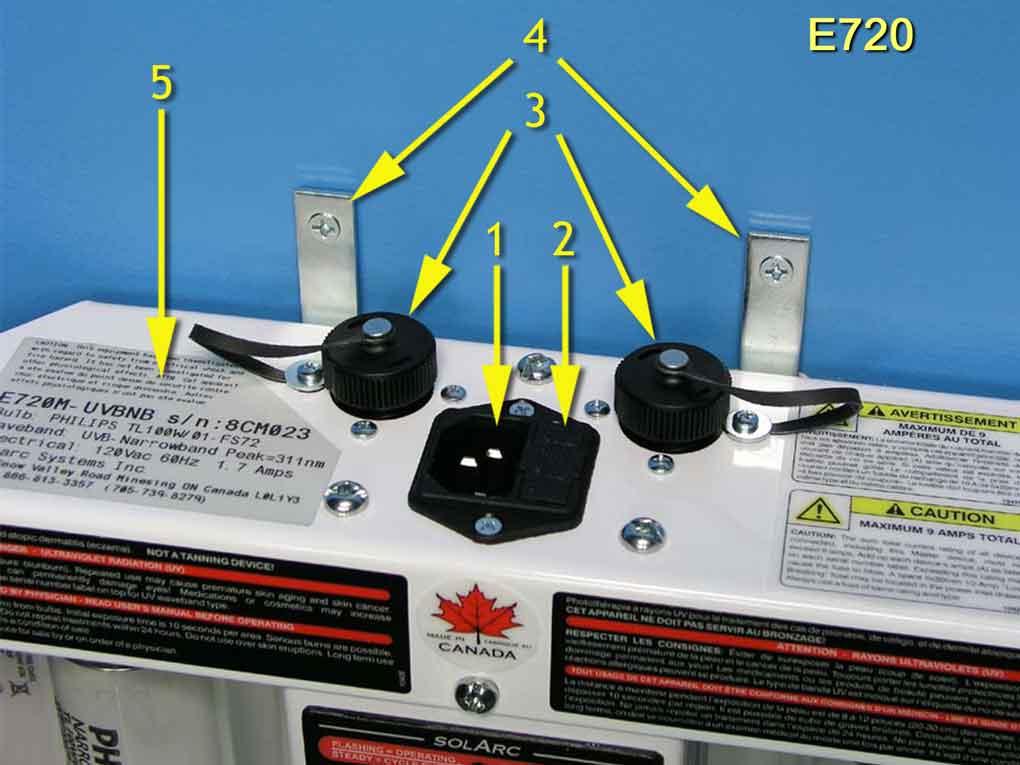 E720 Top Cap Diagram 7 SolRx E-Series