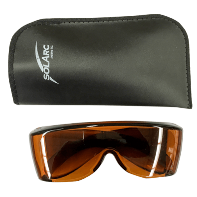 Solarc Amber tint staff glasses for phototherapy light protection