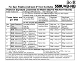 uvb narrowband exposure guidelines top Solrx 500-Series