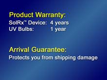 warranty 10001 Solrx 500-Series